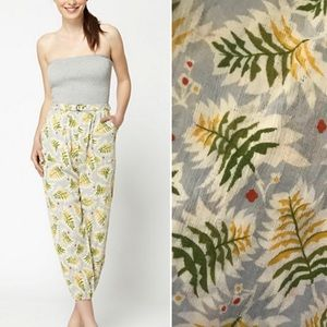 Anthropologie Lilka tropical leaves jumpsuit